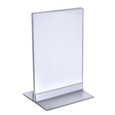 "Azar® 5.5"" x 8.5"" Acrylic Sign Holder with T-Strip Holder 10ct - image 1 of 1"
