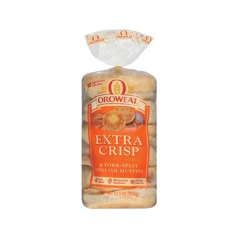 Oroweat Extra Crisp Fork-Split English Muffins - 6ct/12.5oz - image 1 of 1