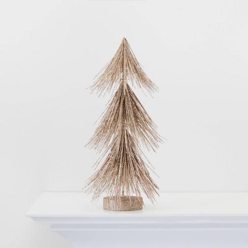 Small Gold Glitter Christmas Tree Figurine - Wondershop™ - image 1 of 2