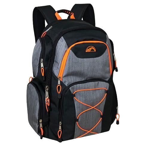 """Trailmaker Cross Weave 20"""" Multi Pocket Backpack - Orange/Gray - image 1 of 2"""