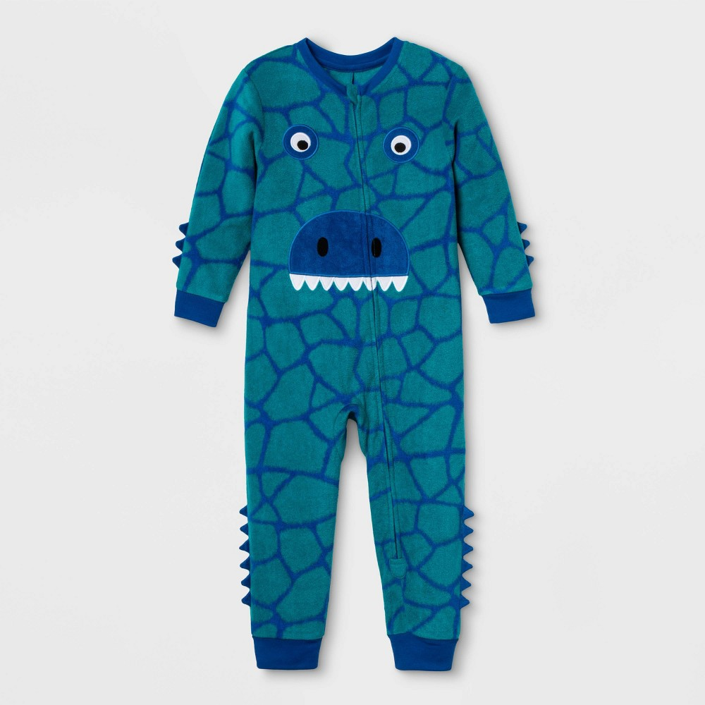 Image of Toddler Dinosaur Family Union Suit - Fanfare 12M, Adult Unisex, Blue