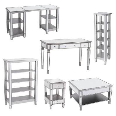 Warakin Mirrored Collection Aiden, Target Mirrored Furniture