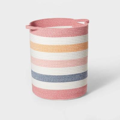 Floor Multi Stripe Coiled Rope Storage Bin - Pillowfort™