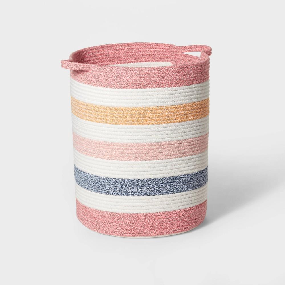 Floor Multi Stripe Coiled Rope Storage Bin Pillowfort 8482