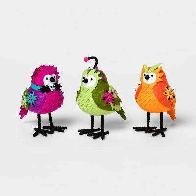 3pk Featherly Friends Ghoulish Garden Birds Halloween Decorative Figurine - Hyde & EEK! Boutique™