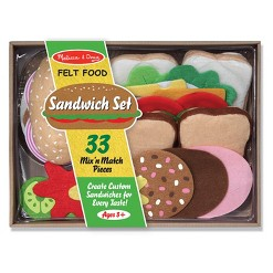 Melissa & Doug Felt Food Sandwich Play Food Set (33pc)