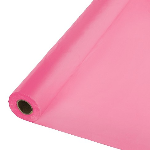 Candy Pink Disposable Tablecloth - image 1 of 1