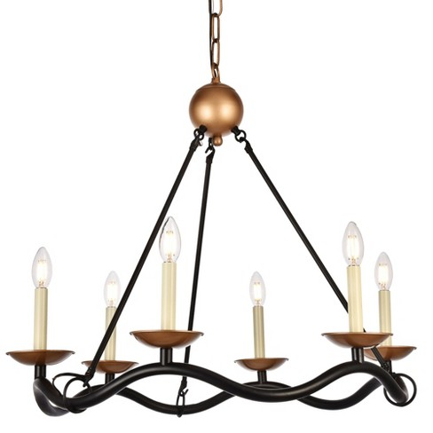 """Elegant Lighting LD6006D29 Misha 6 Light 28-1/2"""" Wide Taper Candle Chandelier - image 1 of 1"""
