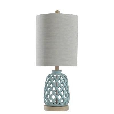 Ceramic Table Lamp Blue  - StyleCraft