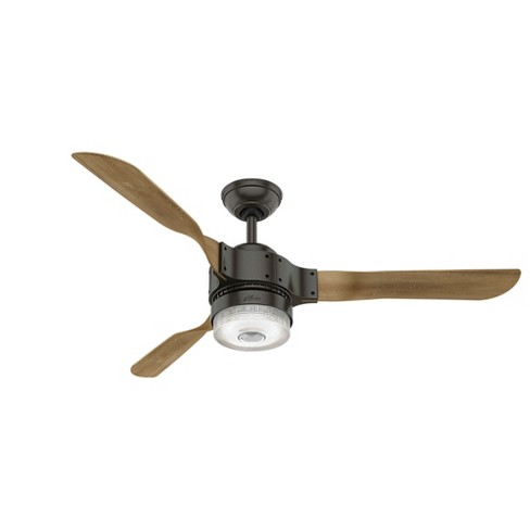 "54"" Wi-Fi Enabled HomeKit Compatible Apache Noble Bronze Ceiling Fan with Light with Integrated Control System Handheld - Hunter Fan - image 1 of 8"