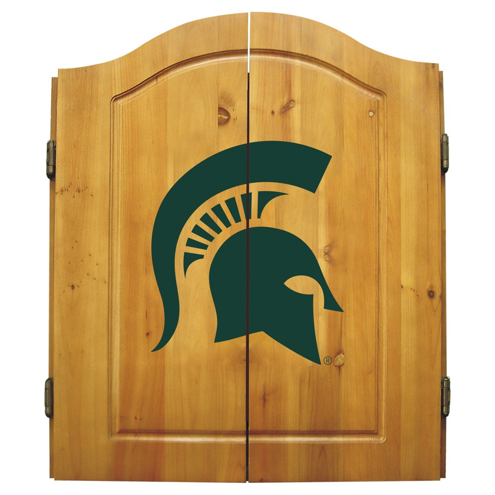 NCAA Imperial Bristle Dart Board and Cabinet Michigan State Spartans