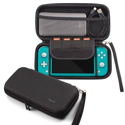 Insten Eva Travel Carrying Full Protection Case w/ 4 Game Cartridge Holders For Nintendo Switch Lite - Black
