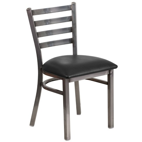 Clear Metal Restaurant Chair - Riverstone Furniture Collection - image 1 of 4