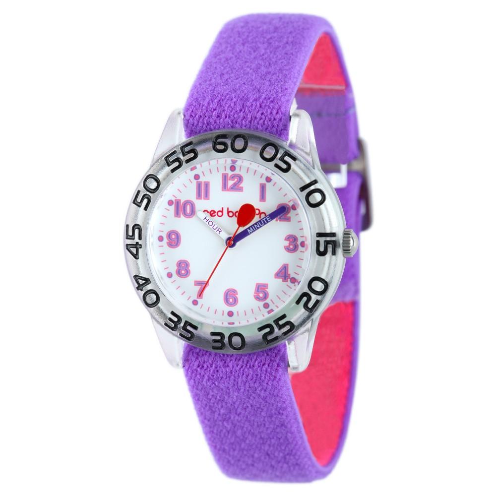 Girls' Red Balloon Plastic Time Teacher Watch - Purple