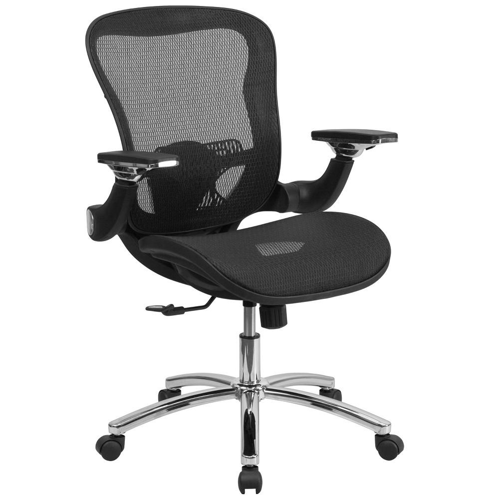 Astounding Executive Swivel Office Chair With Synchro Tilt Black Mesh Theyellowbook Wood Chair Design Ideas Theyellowbookinfo