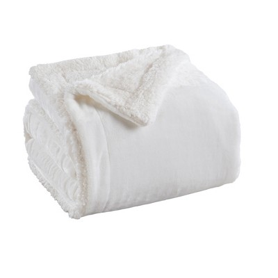 Great Bay Home Reversible Velvet Plush Sherpa Blanket