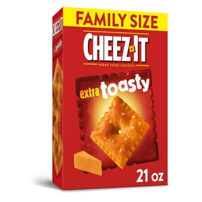 Cheez-It Extra Toasty Family Size Cheese Crackers - 21oz
