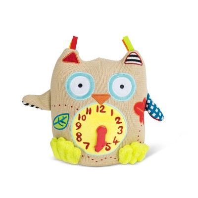 Dolce Small Owl Clock Stuffed Animal And Plush Toy