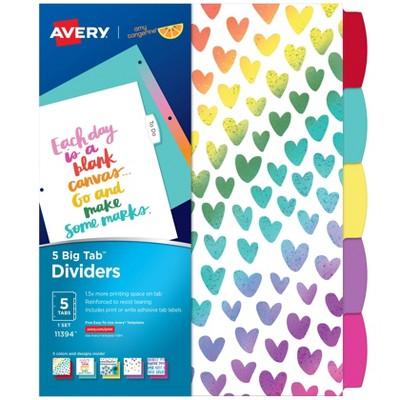 Avery 5 Big Tab Amy Tangerine Fashion Dividers