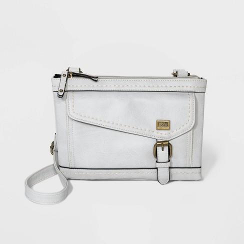 Bolo Zip Closure Crossbody Bag - Light Gray - image 1 of 4