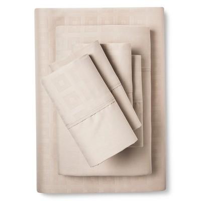 Queen 6pc Natalia Cavalletto Box Design Sheet Set Tan - Christopher Knight Home