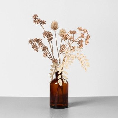 "16"" Faux Bleached Thistle & Sedum Arrangement - Hearth & Hand™ with Magnolia"