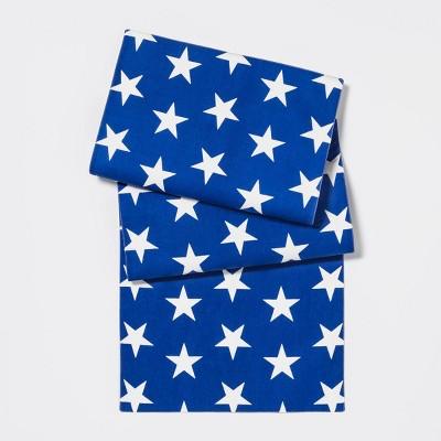 48 x14  Americana Star Print Table Runner Blue/White - Sun Squad™