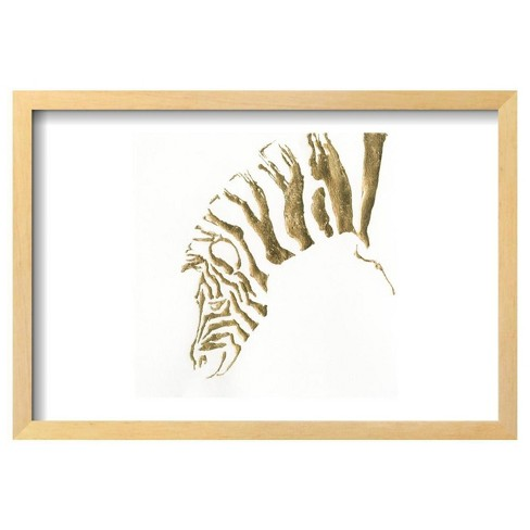 "Gilded Zebra By Chris Paschke Framed Poster 19""X13"" - Art.Com - image 1 of 4"