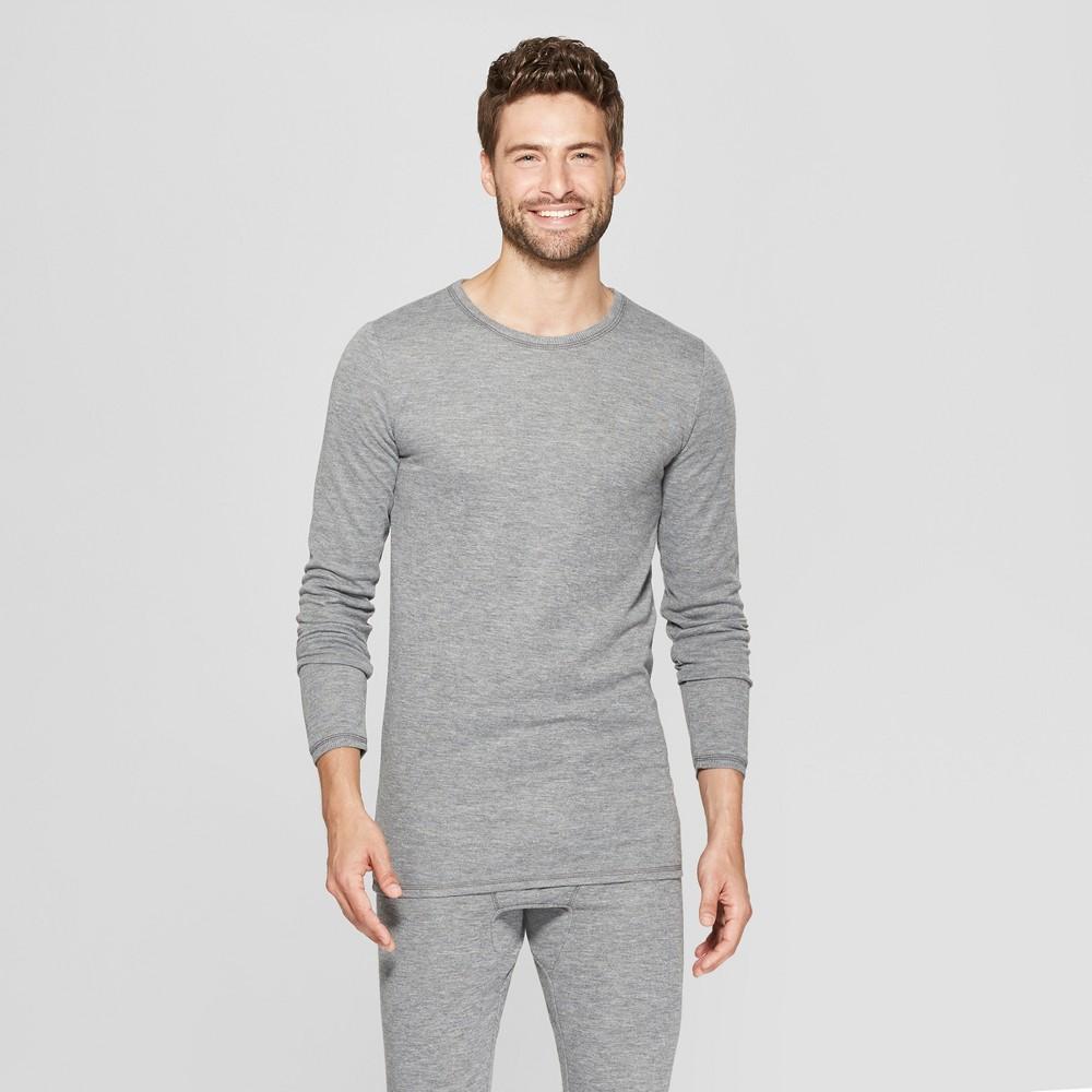 Men's Long Sleeve Wool Blend Thermal Undershirt - Goodfellow & Co Heather Gray M