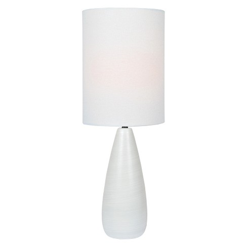 Quatro Table Lamp Brushed White (Includes Energy Efficient Light Bulb) - Lite Source - image 1 of 3
