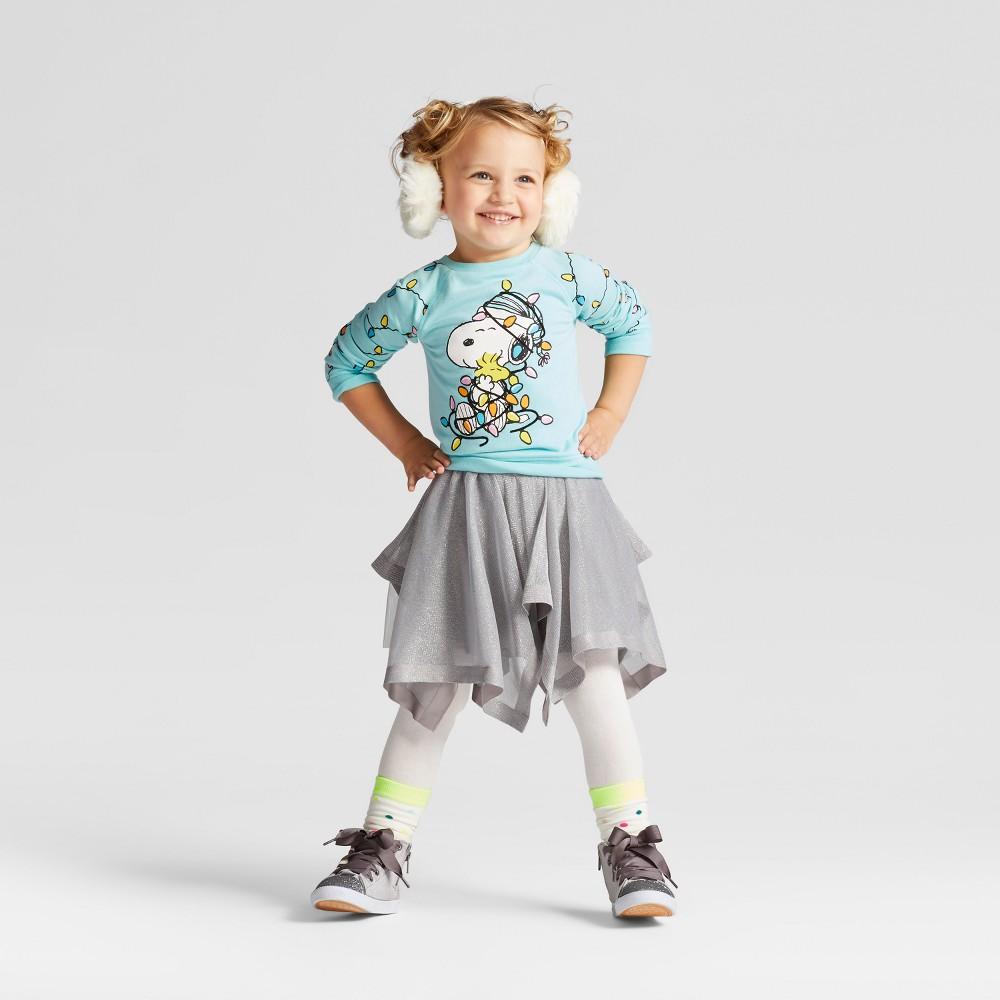Toddler Girls' Snoopy Sweatshirt And Tutu Set - Peanuts Mint (Green) 5T