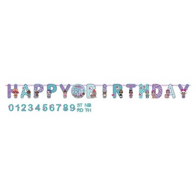 """L.O.L. Surprise! Jumbo """"Happy Birthday"""" Add-An-Age Banner"""