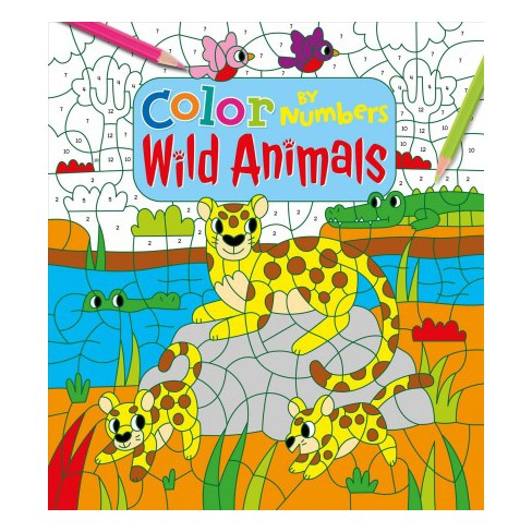 Color By Numbers Wild Animals Paperback Target