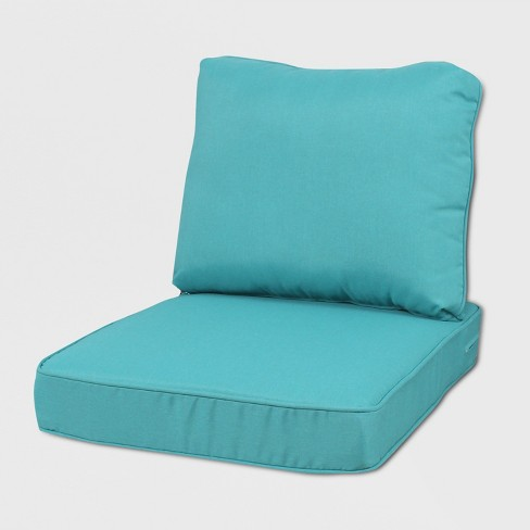 Rolston Outdoor Seat And Back Chair Cushion Turquoise Grand Basket