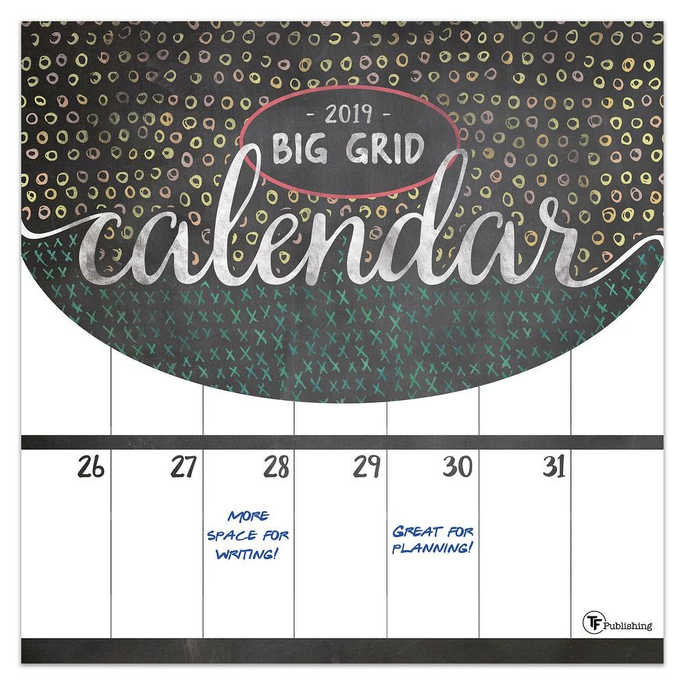 2019 Chalk Art Wall Calendar, 2019 Tf Publishing Big Grid - Chalk Wall Calendar