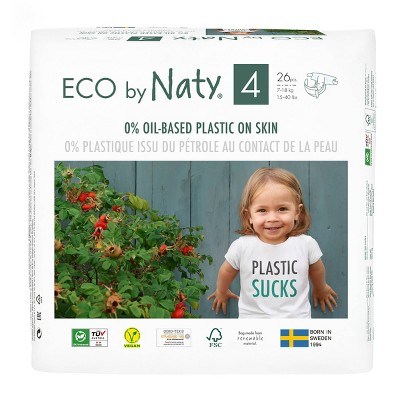 Eco By Naty Premium Disposable Diapers for Sensitive Skin - (Select Size and Count)