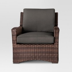 Halsted All Weather Wicker Patio Club Chair - Charcoal - Threshold™