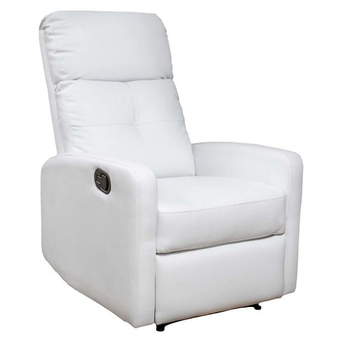 Amazing Samedi Faux Leather Recliner Club Chair White Christopher Knight Home Ncnpc Chair Design For Home Ncnpcorg