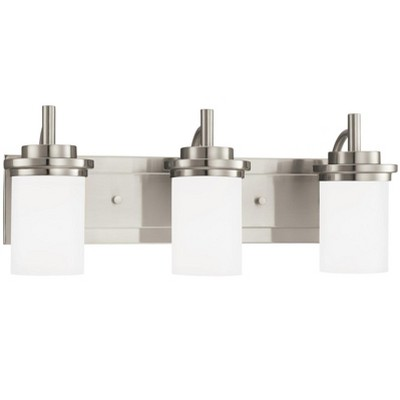 "Sea Gull Lighting Winnetka 3-Light 23"" Wall / Bath Vanity, Brushed Nickel 44662-962"