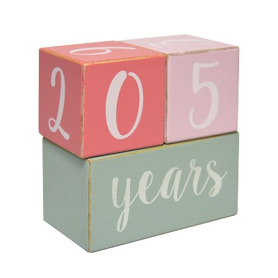 Milestone Wood Blocks - Cloud Island™ Pink
