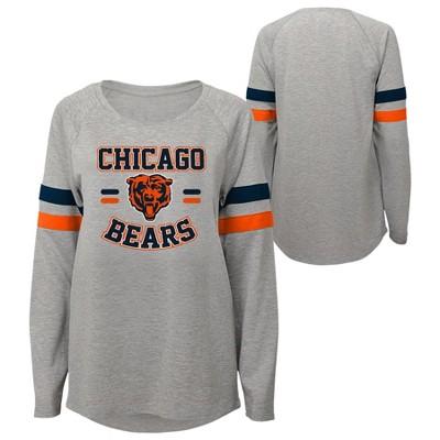 NFL Chicago Bears Girls' Long Sleeve Fashion T-Shirt