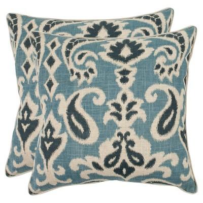 "Blue Set Throw Pillow (18""x18"")- Safavieh"