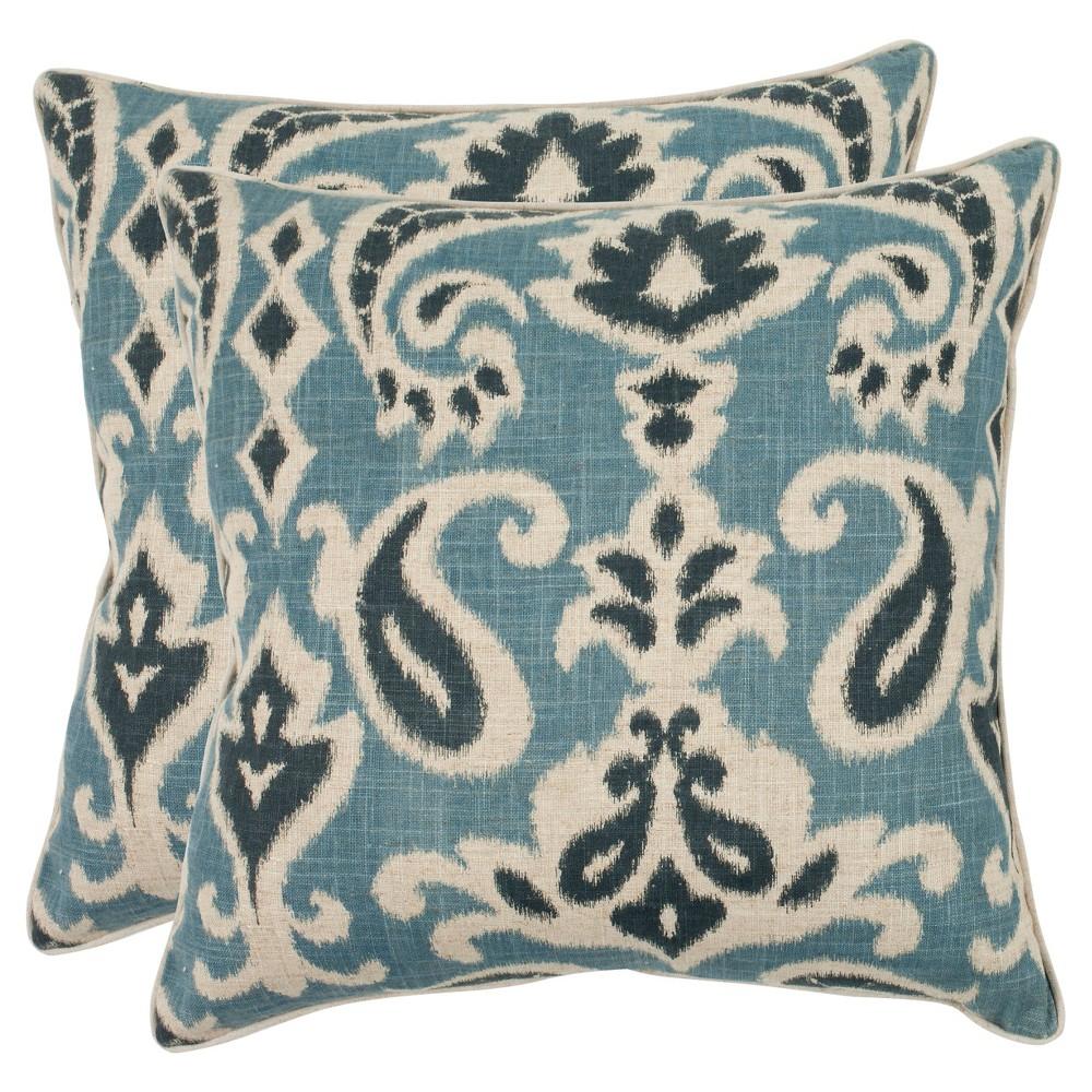 Blue Set Throw Pillow (22x22) - Safavieh