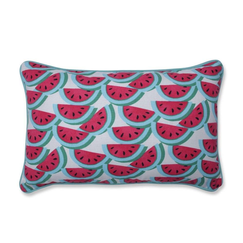 Watermelon Fuchsia Lumbar Throw Pillow Pillow Perfect