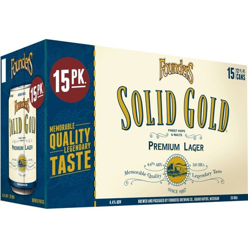 Founders Solid Gold Premium Lager Beer - 15pk/12 fl oz Cans - image 1 of 2