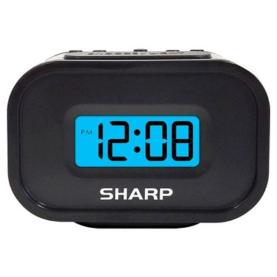 Digital Alarm Clock Black/Blue - Sharp®