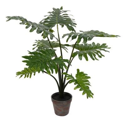 Vickerman Artificial Potted Grand Philodendron Bush.