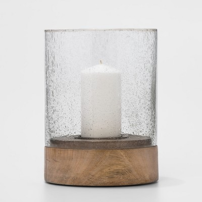 Wood and Glass Hurricane Medium - Threshold™