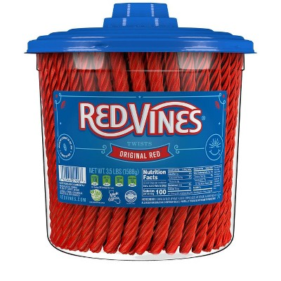 Red Vines Twists Original Red Licorice Candy - 3.5lbs