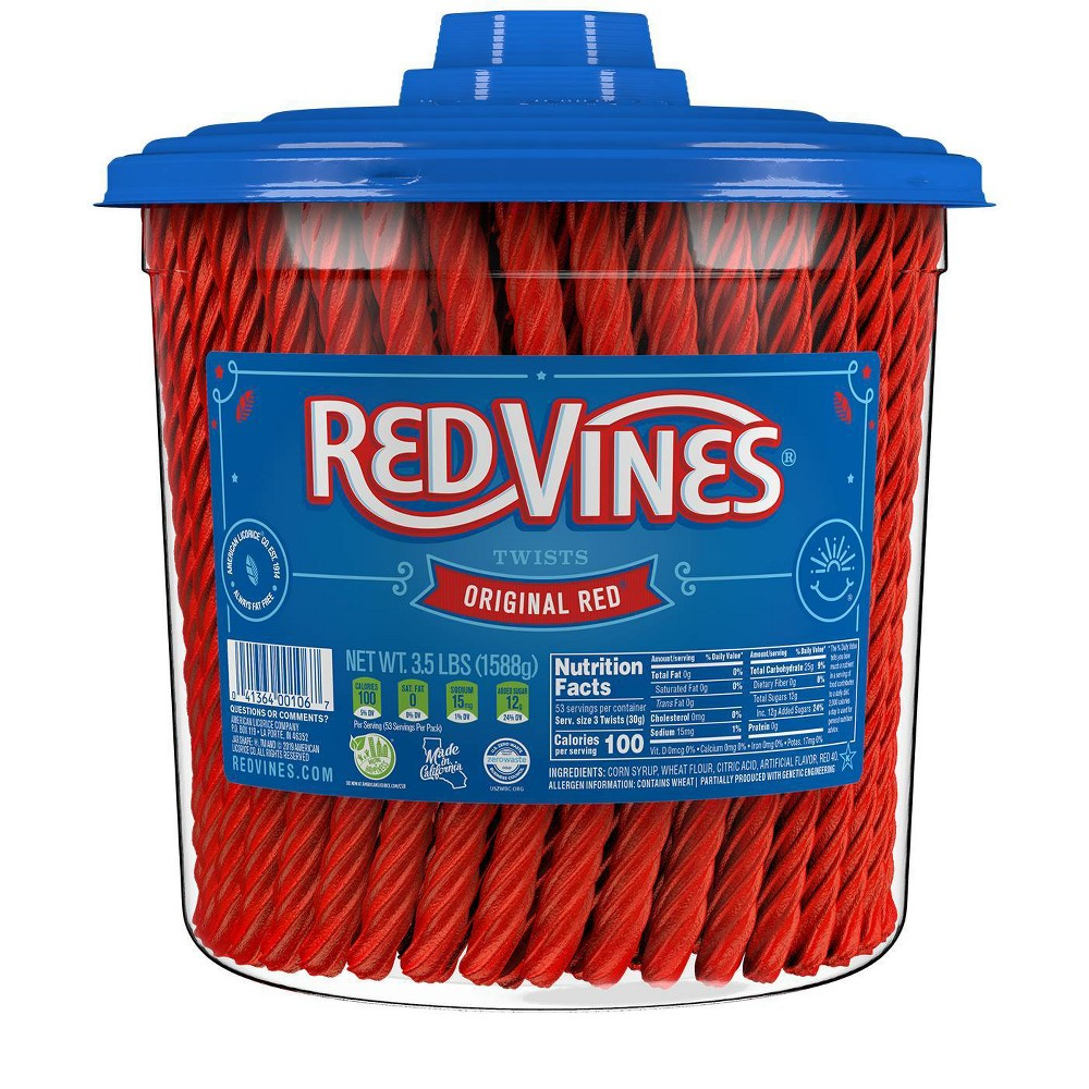 Red Vines Twists Original Red Licorice Candy 3 5lbs